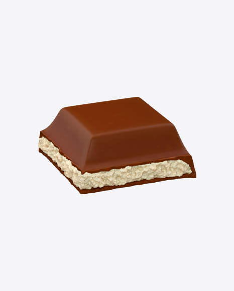 Square Chocolate Piece with Coconut Cream