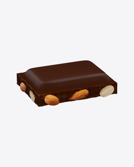 Dark Chocolate Piece with Almonds