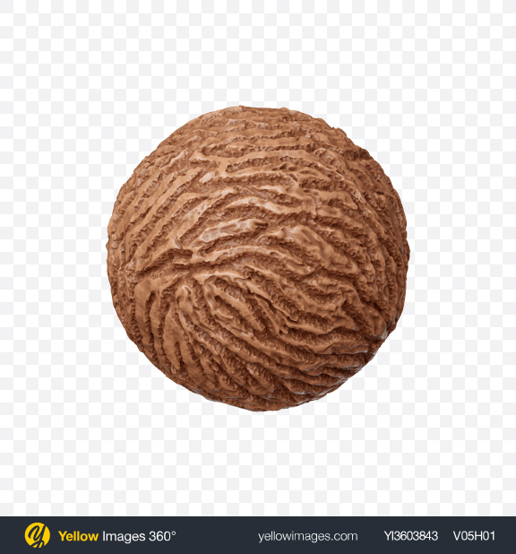 Download Chocolate Ice Cream Ball Transparent PNG on Yellow Images 360°