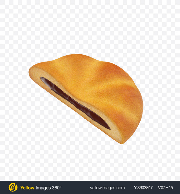 Download Half of Chocolate Filled Cookie Transparent PNG on Yellow Images 360°
