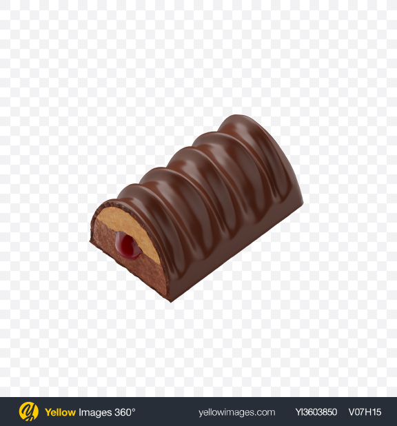 Download Half of Chocolate Bar Transparent PNG on Yellow Images 360°