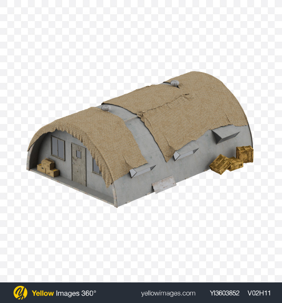 Download Military Shelter Transparent PNG on Yellow Images 360°