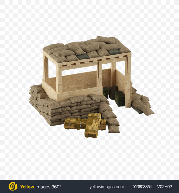 Download Military Fortification Transparent PNG on Yellow Images 360°
