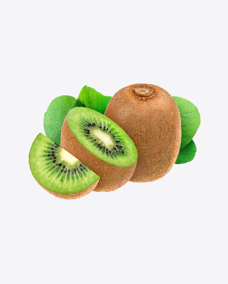 Kiwifruit with leaves