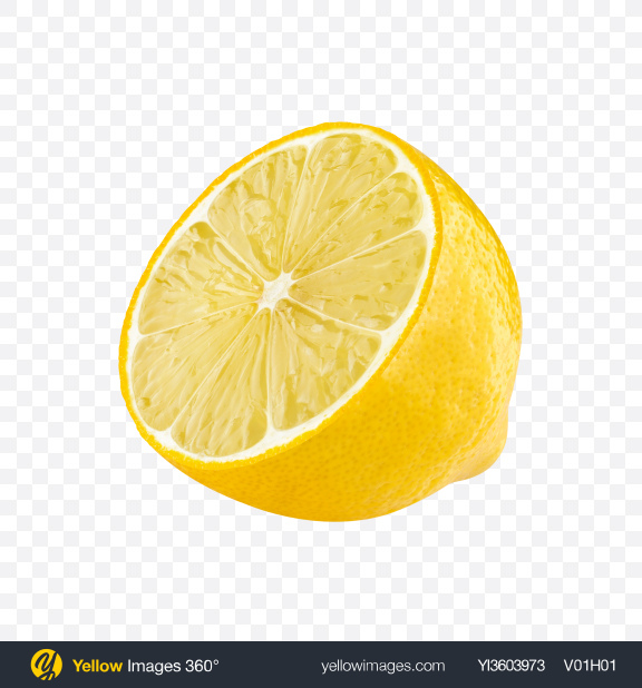 Download Half of Lemon Transparent PNG on YELLOW Images