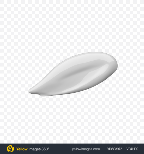 Download Cosmetic Cream Smear Transparent PNG on Yellow Images 360°