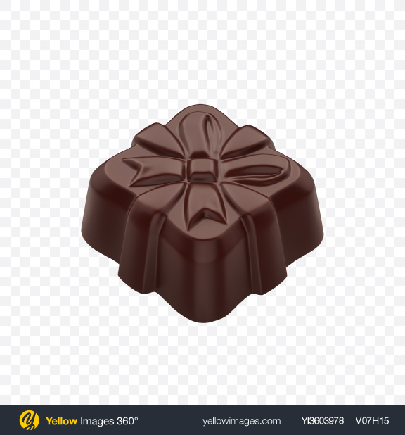 Download Dark Chocolate Candy Transparent PNG on Yellow Images 360°