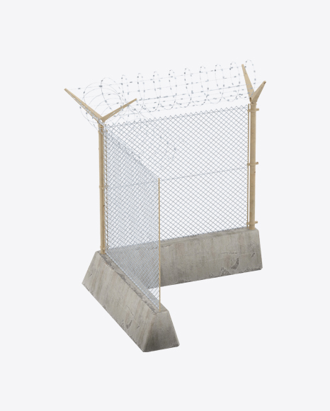 Military Fence Corner Section