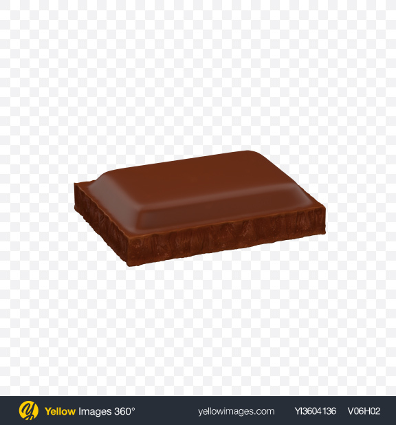 Download Milk Chocolate Bar Piece Transparent PNG on Yellow Images 360°