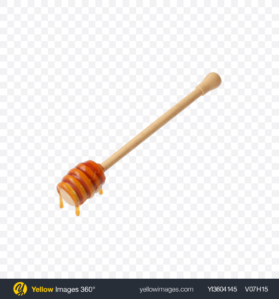 Download Honey Dipper with Honey Transparent PNG on YELLOW Images