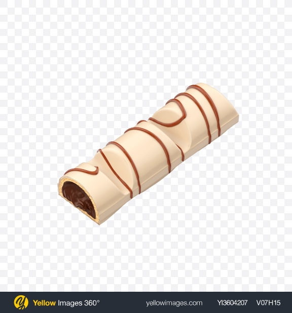 Download Half of White Chocolate Bar Transparent PNG on Yellow Images 360°
