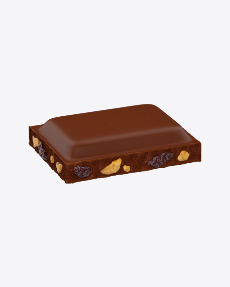 Milk Chocolate Piece with Nuts and Raisins