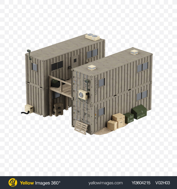 Download Containerized Housing Unit Transparent PNG on Yellow Images 360°