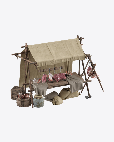 Medieval Meat Stall