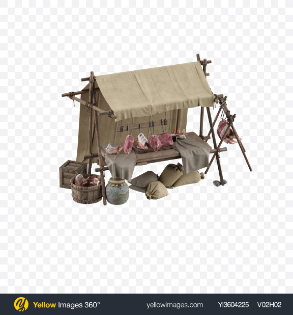 Download Medieval Meat Stall Transparent PNG on YELLOW Images