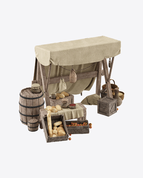 Medieval Bread Stall