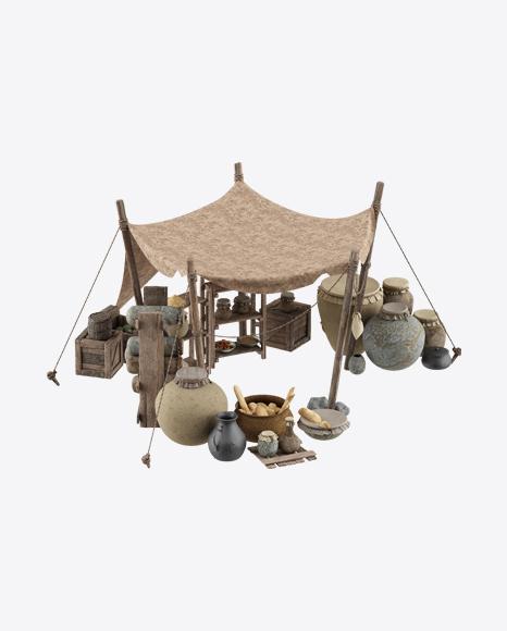 Medieval Market Stall