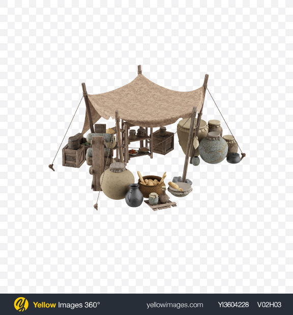 Download Medieval Market Stall Transparent PNG on YELLOW Images