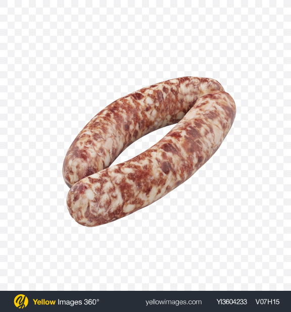 Download Two Raw Sausages Transparent PNG on Yellow Images 360°