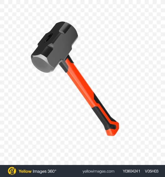 Download Sledgehammer Transparent PNG on Yellow Images 360°