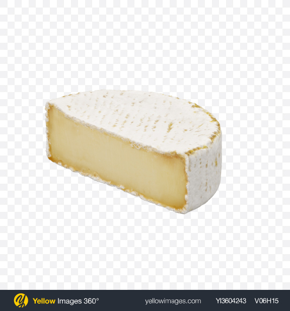 Download Half of Brie Cheese Transparent PNG on Yellow Images 360°