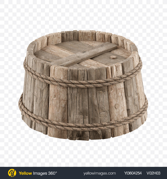 Download Wooden Barrel Transparent PNG on Yellow Images 360°
