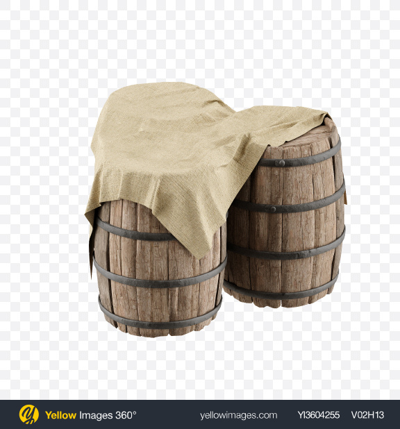 Download Three Wooden Barrels Transparent PNG on YELLOW Images
