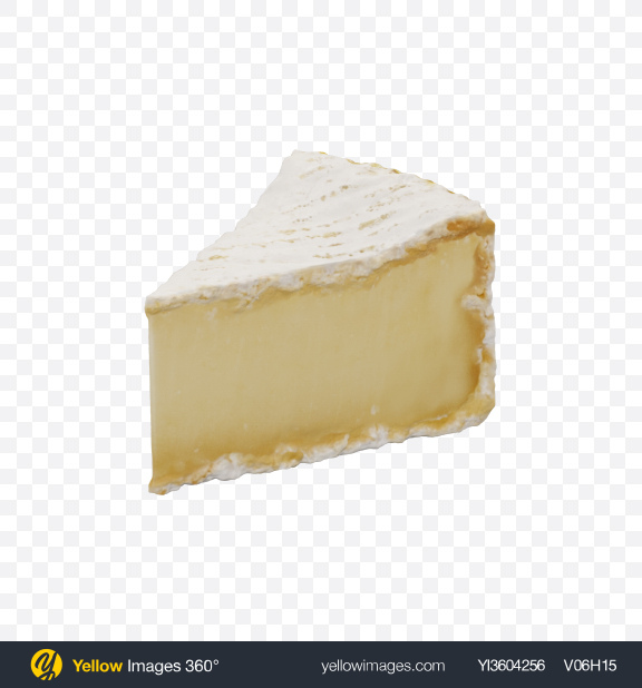 Download Brie Cheese Triangle Transparent PNG on Yellow Images 360°