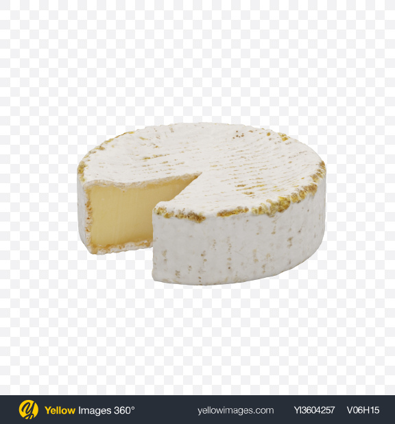 Download Brie Cheese Transparent PNG on Yellow Images 360°