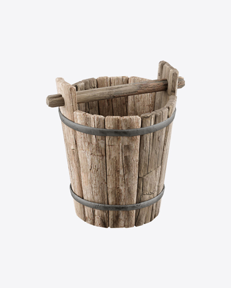 Wooden Well Bucket