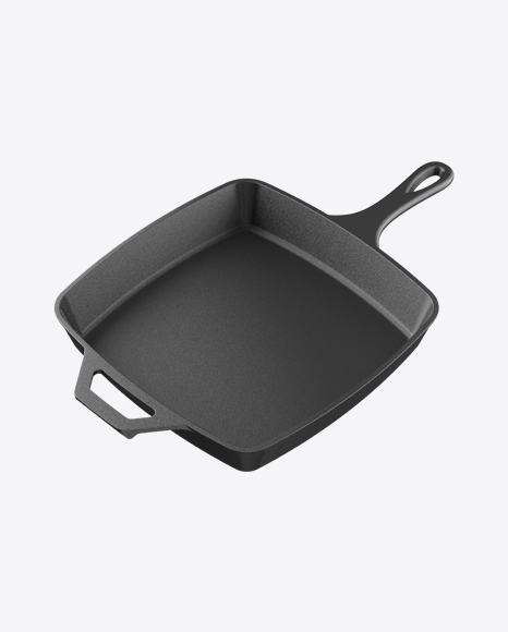 Square Cast Iron Frying Pan