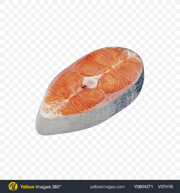 Download Coho Salmon Steak Transparent PNG on Yellow Images 360°