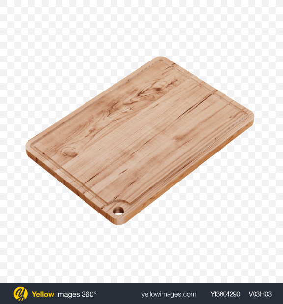 Download Wooden Cutting Board Transparent PNG on Yellow Images 360°