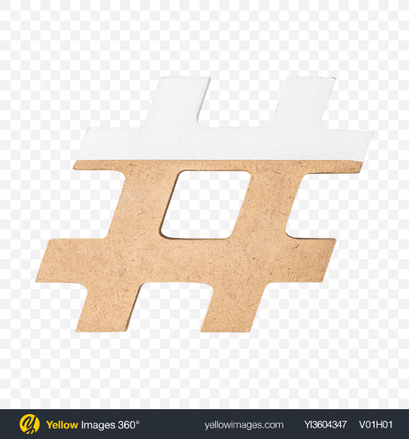 Download Wooden Hashtag Sign Transparent PNG on YELLOW Images