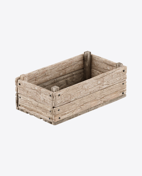 Wooden Crate Box