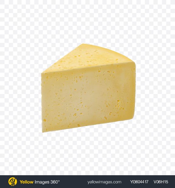 Download Havarti Cheese Slice Transparent PNG on Yellow Images 360°