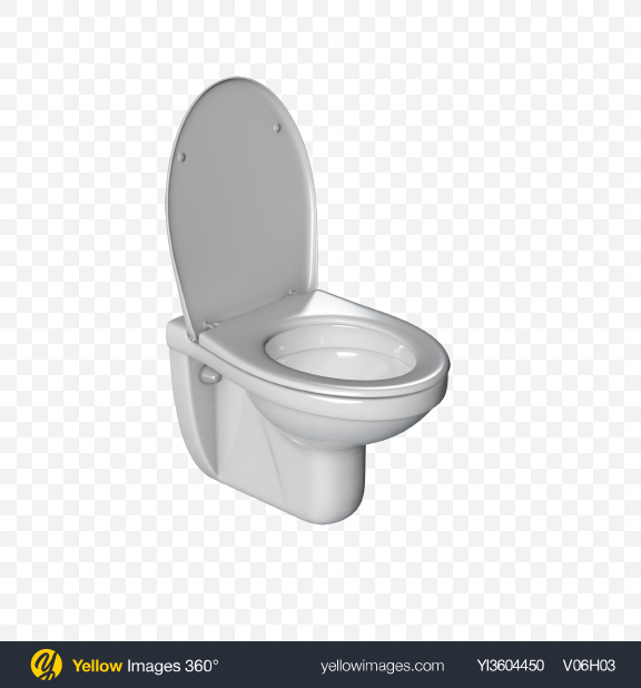 Download Toilet Bowl Transparent PNG on Yellow Images 360°