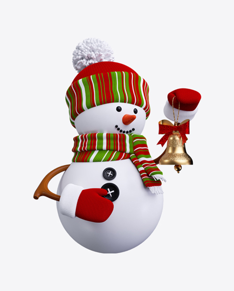 Snowman Toy with Bell