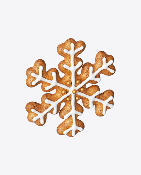 Gingerbread Snowflake Cookie