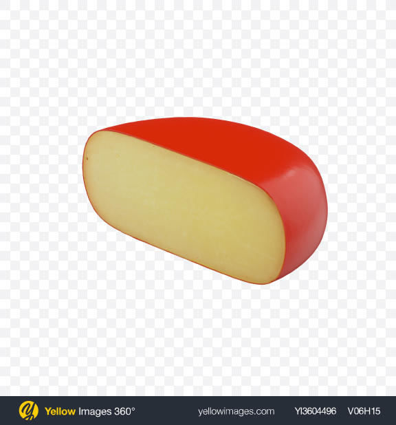 Download Half of Gouda Cheese Transparent PNG on Yellow Images 360°