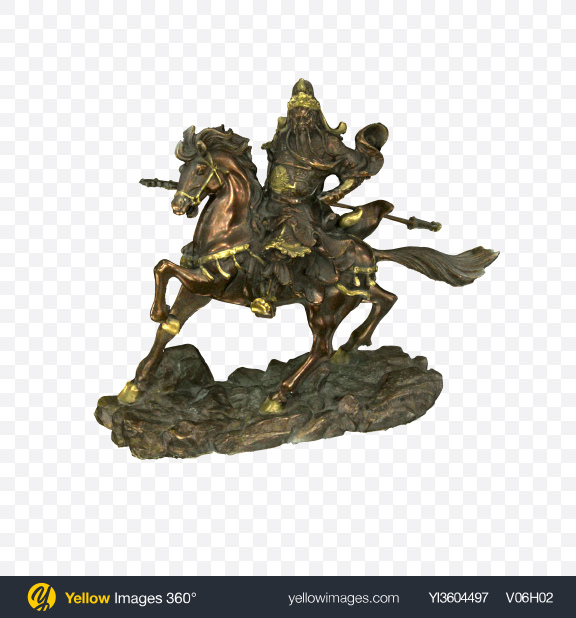 Download Bronze Statuette of Horseman Transparent PNG on YELLOW Images