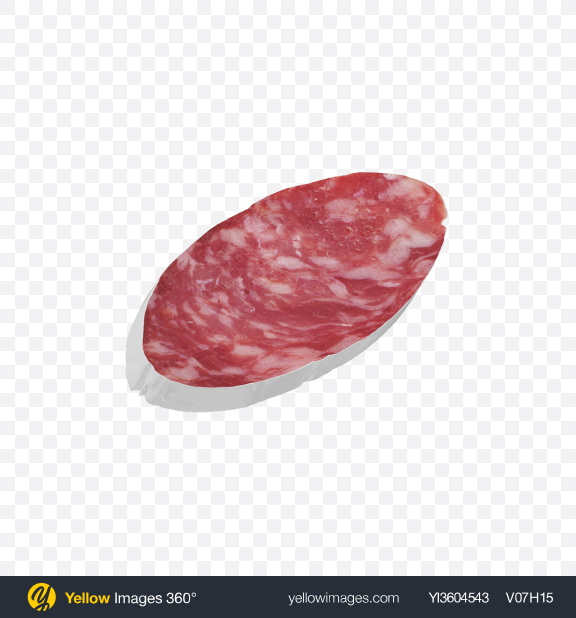 Download Winter Salami Sausage Slice Transparent PNG on Yellow Images 360°