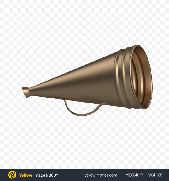 Download Old Megaphone Transparent PNG on Yellow Images 360°