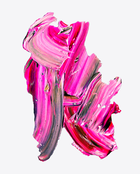 Pink-Red Paint Stroke