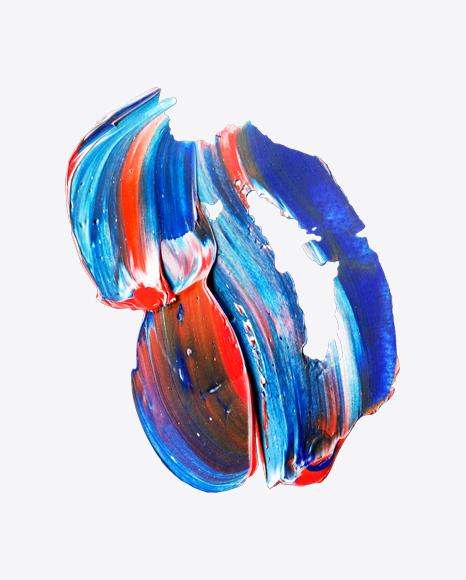 Blue-Red Paint Stroke