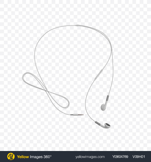 Download White Headphones Transparent PNG on YELLOW Images