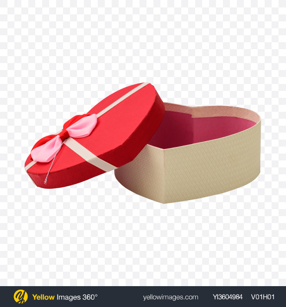 Download Heart-Shaped Goft Box Transparent PNG on YELLOW Images