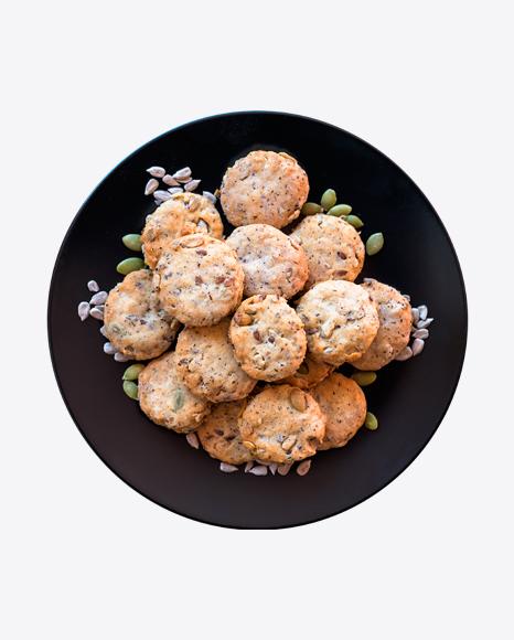 Salty Cookies on Plate