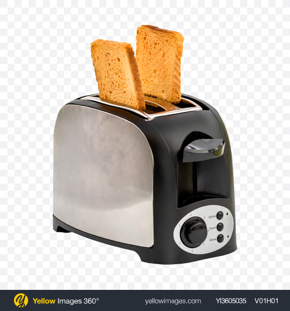 Download Toaster with Bread Slices Transparent PNG on YELLOW Images