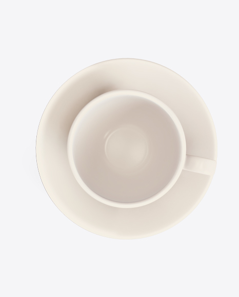 White Ceramic Cup & Saucer